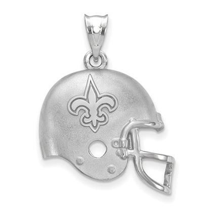Picture of New Orleans Saints Sterling Silver Football Helmet Logo Pendant