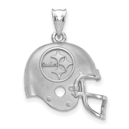 Picture of Pittsburgh Steelers Sterling Silver Football Helmet Logo Pendant