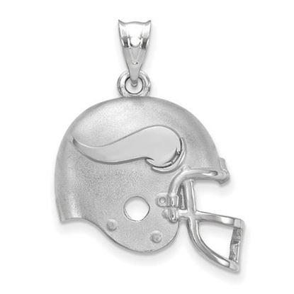Picture of Minnesota Vikings Sterling Silver Football Helmet Logo Pendant
