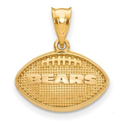 Picture of Chicago Bears Sterling Silver Gold Plated Football Pendant