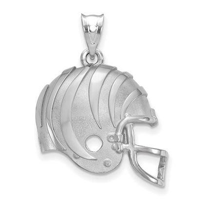 Picture of Cincinnati Bengals Sterling Silver Football Helmet Logo Pendant