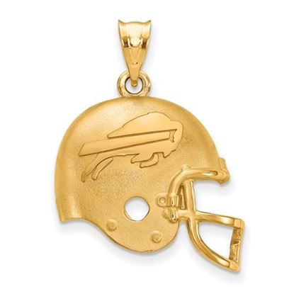 Picture of Buffalo Bills Sterling Silver Gold Plated Football Helmet Pendant