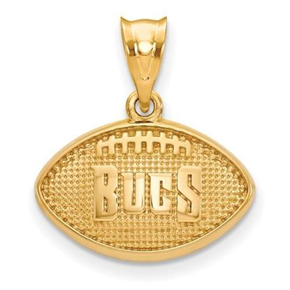 Picture of Tampa Bay Buccaneers Sterling Silver Gold Plated Football Pendant