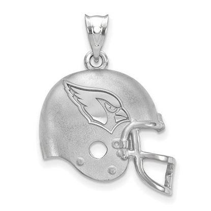 Picture of Arizona Cardinals Sterling Silver Football Helmet Logo Pendant