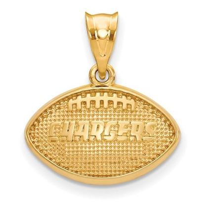 Picture of Los Angeles Chargers Sterling Silver Gold Plated Football Pendant