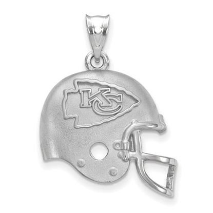 Picture of Kansas City Chiefs Sterling Silver Football Helmet Logo Pendant