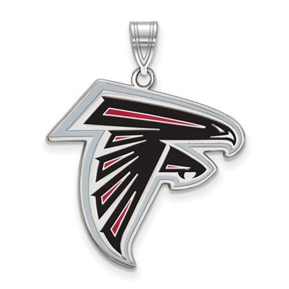 Picture of Atlanta Falcons Sterling Silver Large Enameled Pendant
