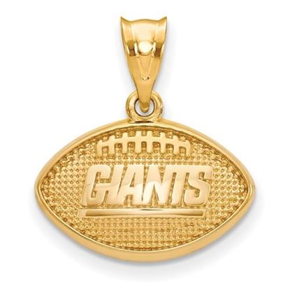 Picture of New York Giants Sterling Silver Gold Plated Football Pendant