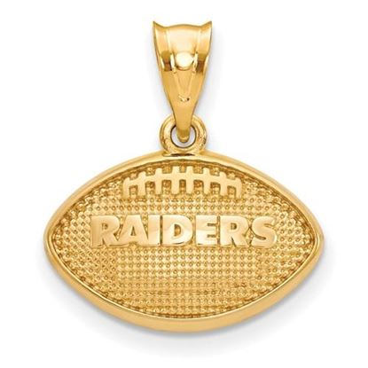 Picture of Oakland Raiders Sterling Silver Gold Plated Football Pendant