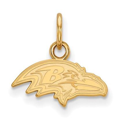 Picture of Baltimore Ravens Sterling Silver Gold Plated Extra Small Pendant