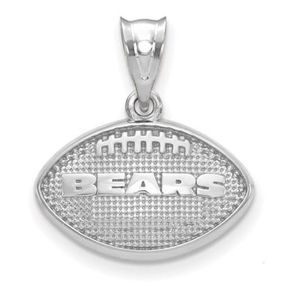 Picture of Chicago Bears Sterling Silver Football with Logo Pendant