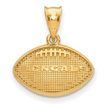 Picture of Cincinnati Bengals Sterling Silver Gold Plated Football Pendant