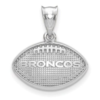 Picture of Denver Broncos Sterling Silver Football with Logo Pendant