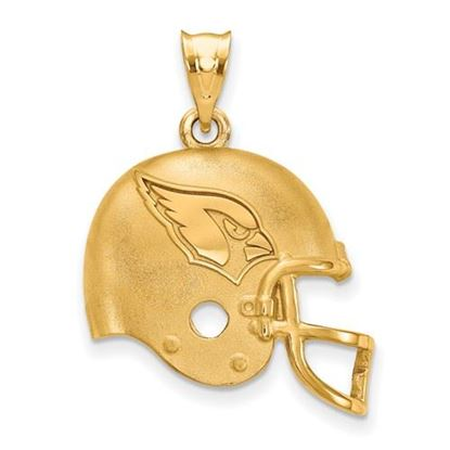 Picture of Arizona Cardinals Sterling Silver Gold Plated Football Helmet Pendant