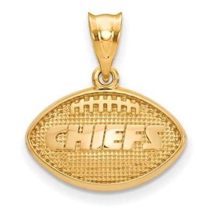 Picture of Kansas City Chiefs Sterling Silver Gold Plated Football Pendant