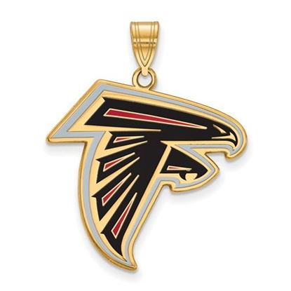 Picture of Atlanta Falcons Sterling Silver Gold Plated Large Enameled Pendant