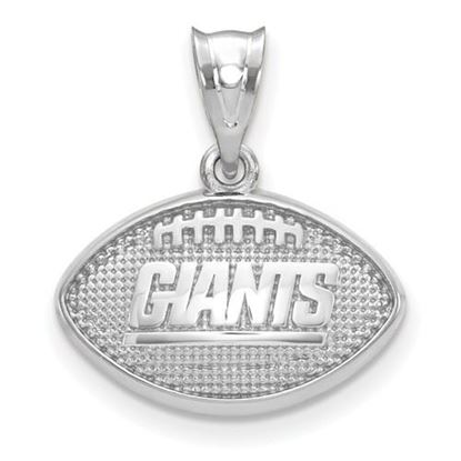 Picture of New York Giants Sterling Silver Football with Logo Pendant