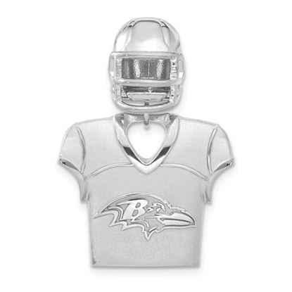 Picture of Carolina Panthers Sterling Silver Jersey and Helmet Pendant