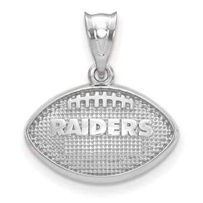 Picture of Oakland Raiders Sterling Silver Football with Logo Pendant