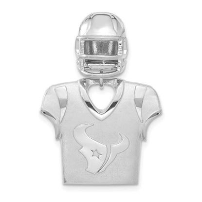 Picture of Houston Texans Sterling Silver Jersey and Helmet Pendant