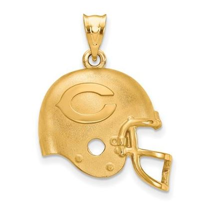 Picture of Chicago Bears Sterling Silver Gold Plated Helmet Pendant