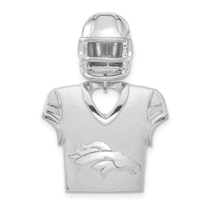 Picture of Denver Broncos Sterling Silver Jersey and Helmet Pendant