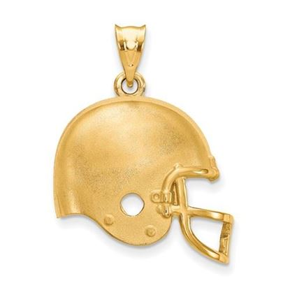 Picture of Cleveland Browns Sterling Silver Gold Plated Helmet Pendant