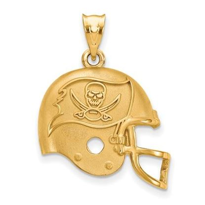 Picture of Tampa Bay Buccaneers Sterling Silver Gold Plated Helmet Pendant