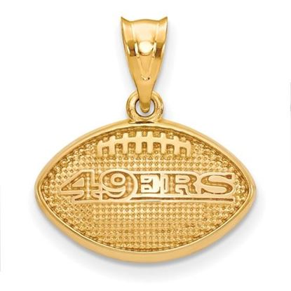 Picture of San Francisco 49ers Sterling Silver Gold Plated  Football Pendant