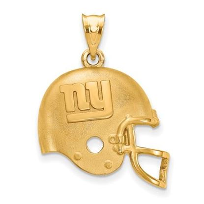 Picture of New York Giants Sterling Silver Gold Plated Helmet Pendant