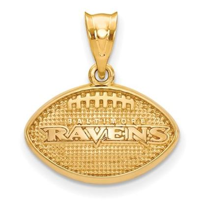 Picture of Baltimore Ravens Sterling Silver Gold Plated Football Pendant