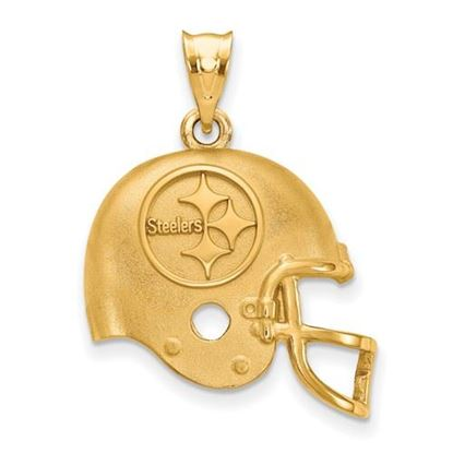 Picture of Pittsburgh Steelers Sterling Silver Gold Plated Helmet Pendant