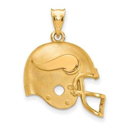 Picture of Minnesota Vikings Sterling Silver Gold Plated Helmet Pendant