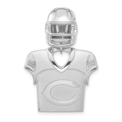 Picture of Chicago Bears Sterling Silver Jersey and Helmet Pendant