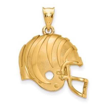 Picture of Cincinnati Bengals Sterling Silver Gold Plated Helmet Pendant