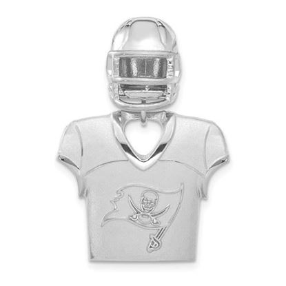 Picture of Tampa Bay Buccaneers Sterling Silver Jersey and Helmet Pendant