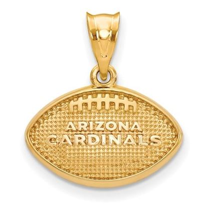 Picture of Arizona Cardinals Sterling Silver Gold Plated Football with Pendant