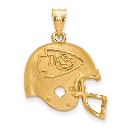 Picture of Kansas City Chiefs Sterling Silver Gold Plated Helmet Pendant