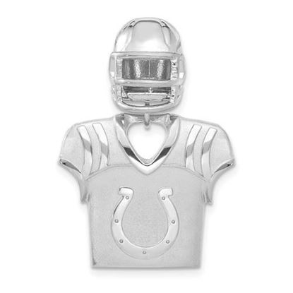 Picture of Indianapolis Colts Sterling Silver Jersey and Helmet Pendant