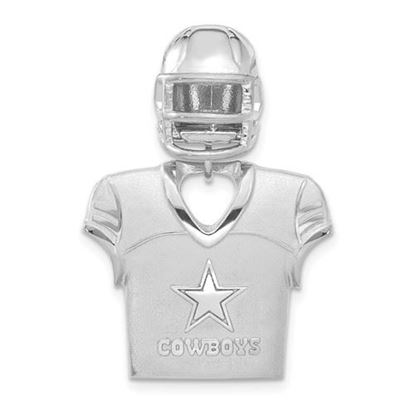 Picture of Dallas Cowboys Sterling Silver Jersey and Helmet Pendant