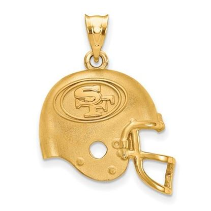 Picture of San Francisco 49ers Sterling Silver Gold Plated  Helmet Pendant