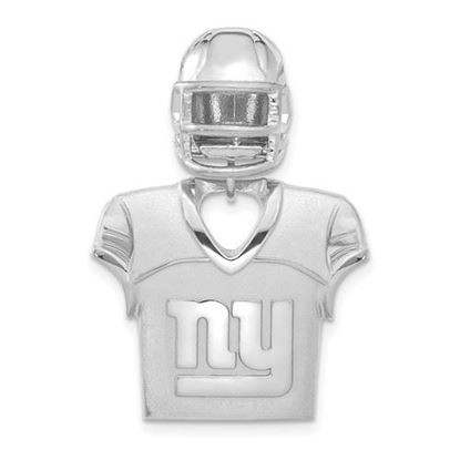 Picture of New York Giants Sterling Silver Jersey and Helmet Pendant