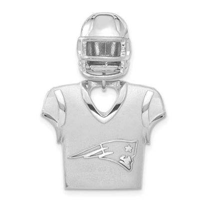 Picture of New England Patriots Sterling Silver Jersey and Helmet Pendant