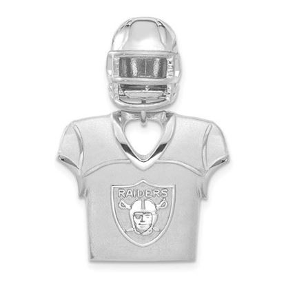 Picture of Oakland Raiders Sterling Silver Jersey and Helmet Pendant