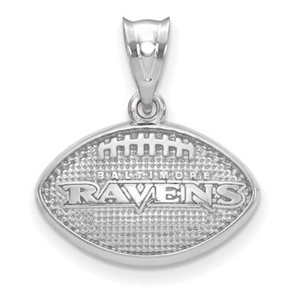 Picture of Baltimore Ravens Sterling Silver Football with Logo Pendant