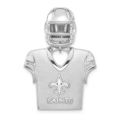 Picture of New Orleans Saints Sterling Silver Jersey and Helmet Pendant
