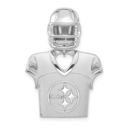 Picture of Pittsburgh Steelers Sterling Silver Jersey and Helmet Pendant