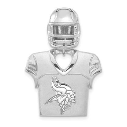 Picture of Minnesota Vikings Sterling Silver Jersey and Helmet Pendant