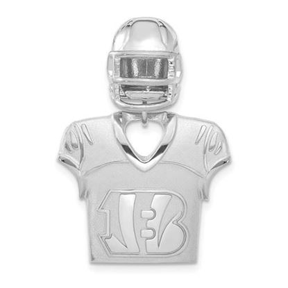 Picture of Cincinnati Bengals Sterling Silver Jersey and Helmet Pendant