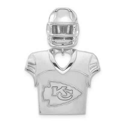 Picture of Kansas City Chiefs Sterling Silver Jersey and Helmet Pendant